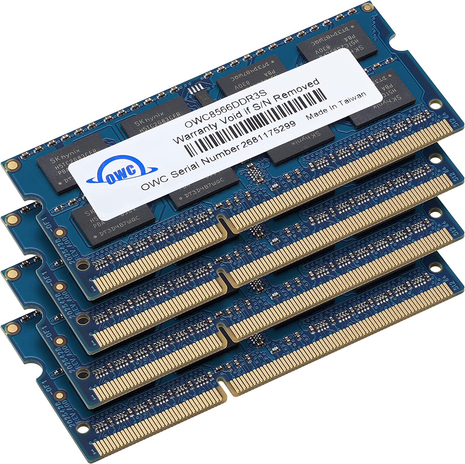 OWC 16.0GB (4 x 4GB) PC8500 DDR3 ECC 1066 MHz 240 pin DIMM Memory Upgrade Kit for 2009 Mac Pro and Xserve