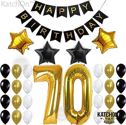 Amazon.com: Kit de decoración para fiesta de cumpleaños 70º ...