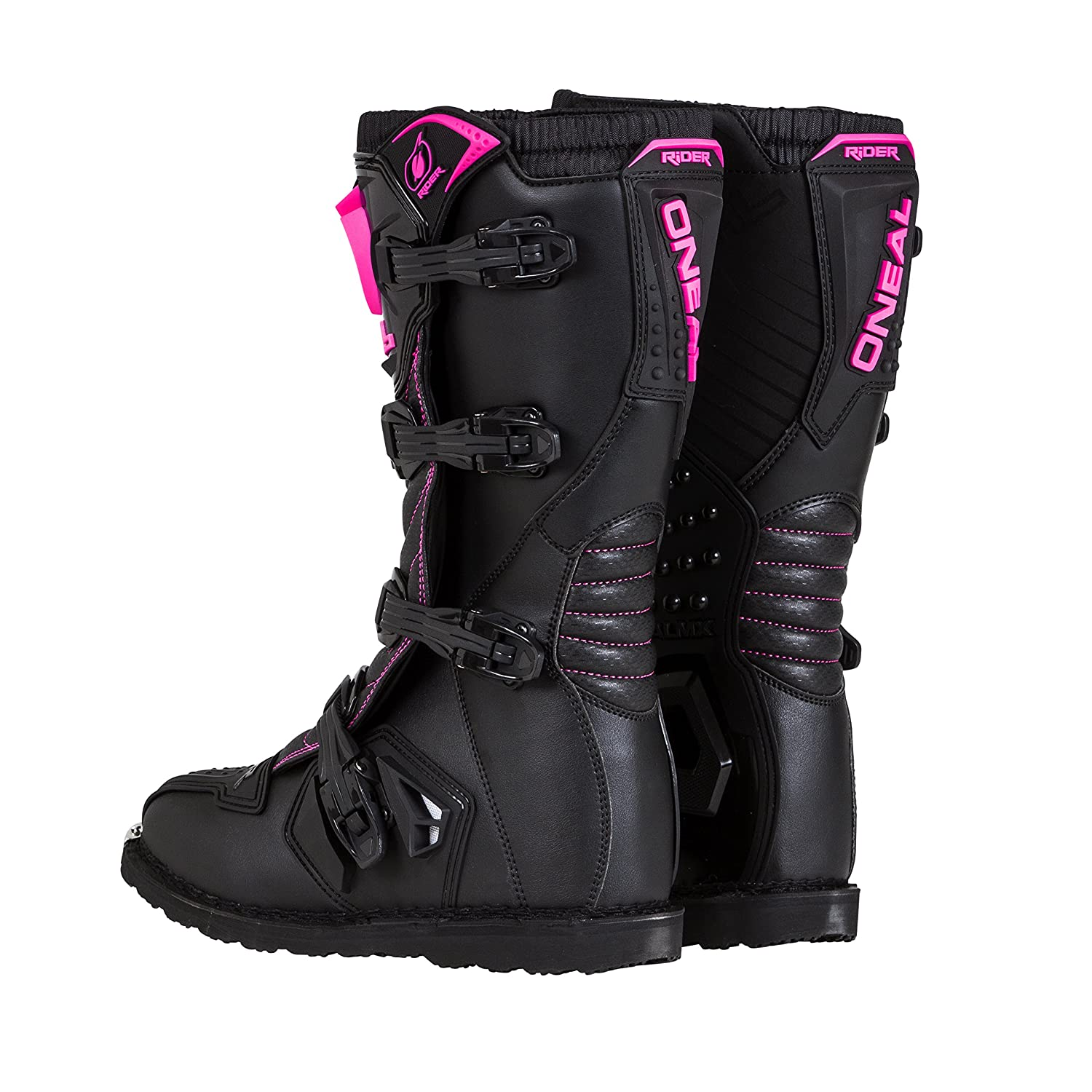 ONeal Womens New Logo Rider Boot Black//Pink, Size 6