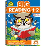 School Zone - Big Reading 1-2 Workbook - Ages 6 to 8, 1st Grade, 2nd Grade, Story Order, Parts of Speech, Comprehension, Phon