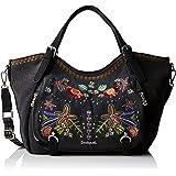 Desigual Bag Candem Rotterdam Women - Borse a spalla Donna, Nero (Negro), 15x30x31 cm (B x H T)