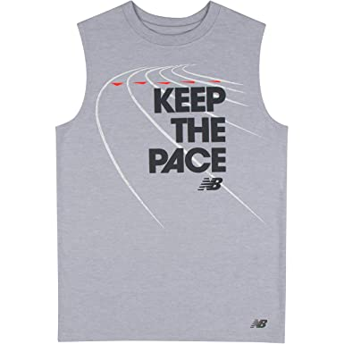 430c1a2eda9e1a New Balance Boys  Sleeveless Graphic Tank  Amazon.in  Clothing ...