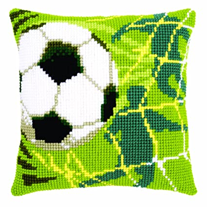 Amazon.com: Vervaco Football Cushion Cross Stitch Kit: Home ...
