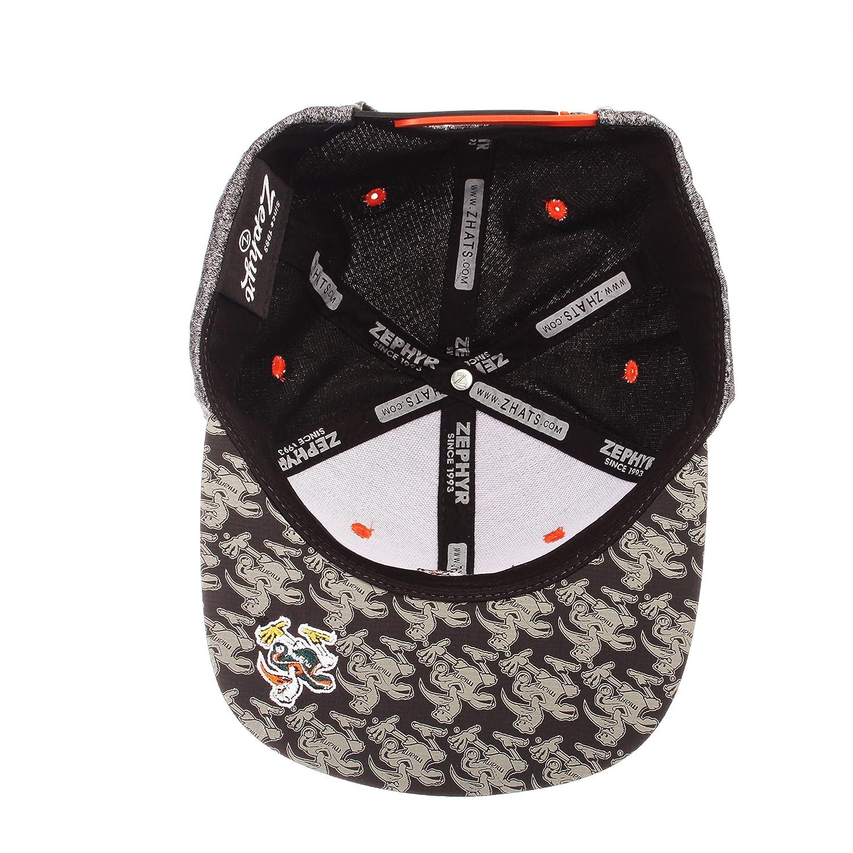 Adjustable Gray//Team Color Zephyr Children Boys Prodigy Youth NCAA Snapback Hat