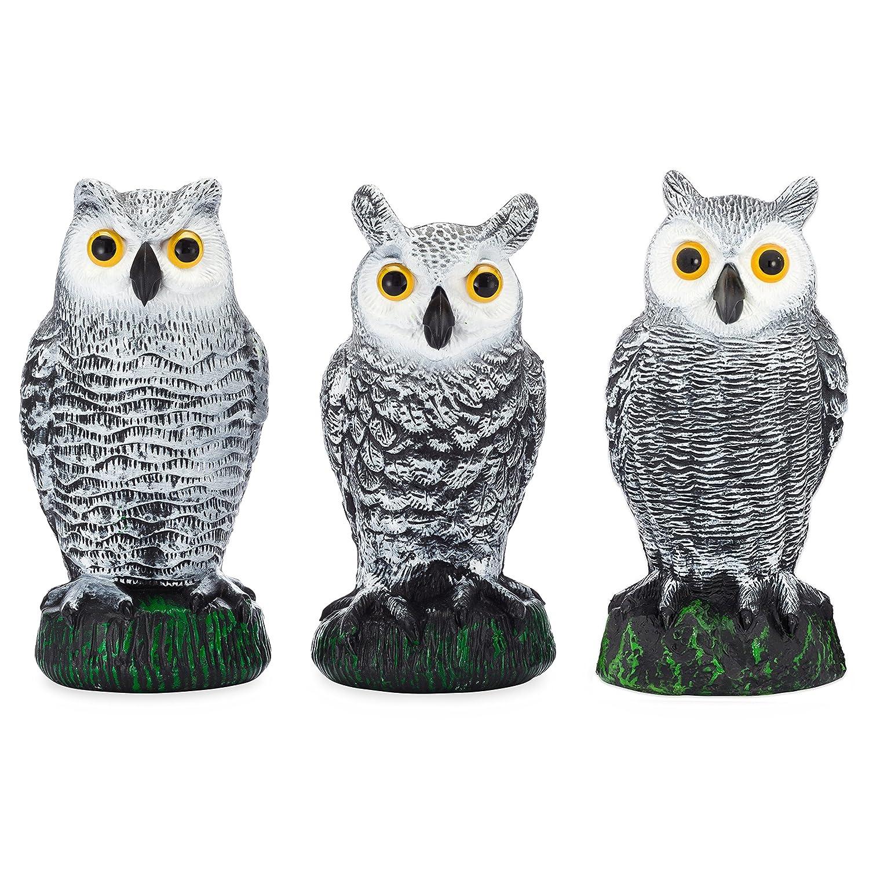 Amazon.com : Bird Blinder Scarecrow Fake Owl Decoys   Pest Repellent Garden  Protectors   (small) (set Of 3) : Garden U0026 Outdoor