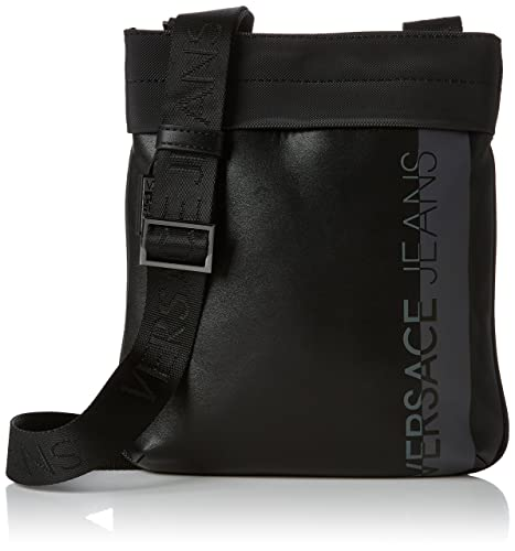 Ee1yrbb11 Hombre Negro Versace Bolso Bandolera Jeans E65019 px66F5wqC