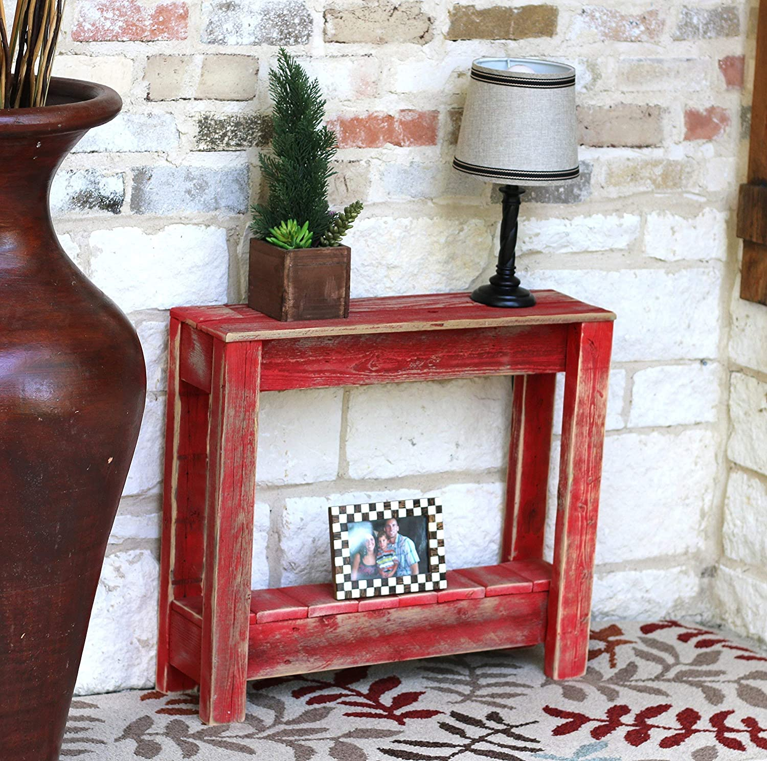 - Amazon.com: Red Accent Table: Handmade