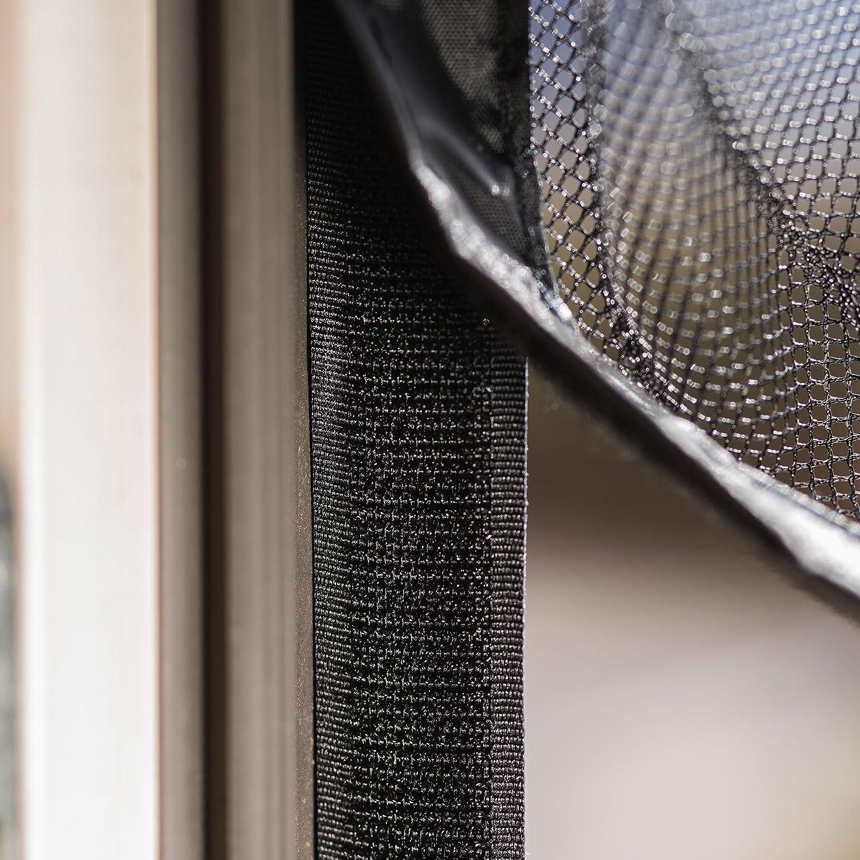 Freiluftraum Moustiquaire pour porte 90 x 210 cm Noir