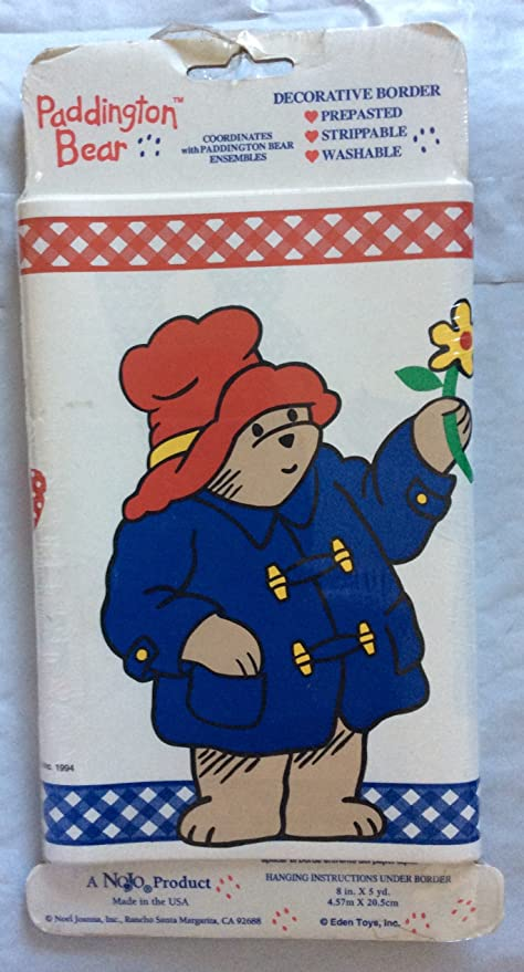 Paddington Bear Border Wallpaper Prepasted 8 In X 5 Yrds Amazon