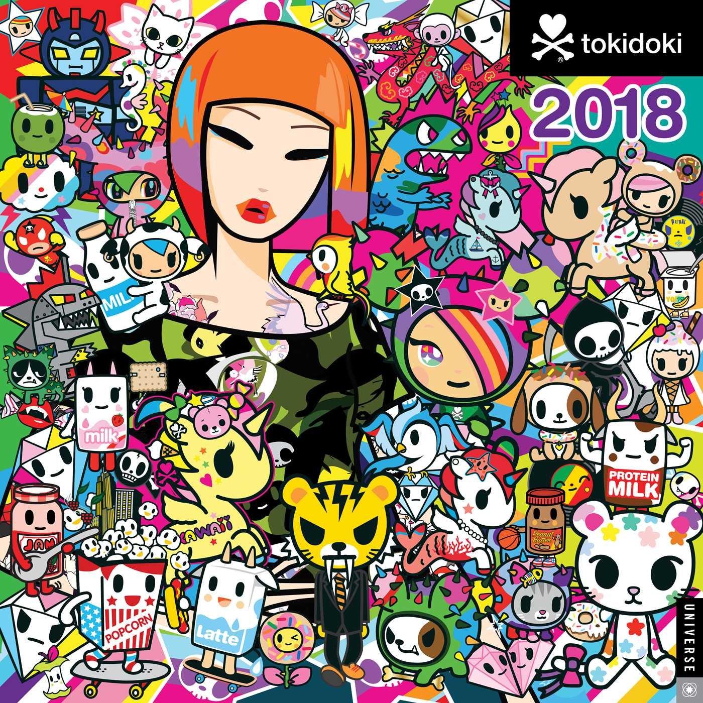 tokidoki 2018 wall calendar simone legno 0676728033561 amazon