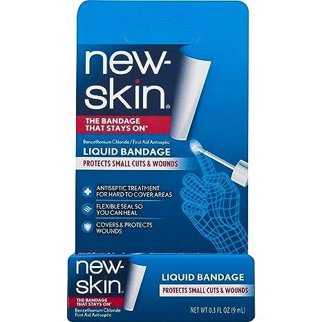 NEW SKIN Pansement liquide antiseptique pour petites blessures et  égratignures a87f90f56bb8