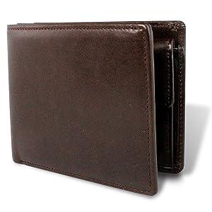 [栃木レザー] マチ付き二つ折り財布 財布 本革 日本製 札入れ 多収納 4OO3355 (brown)