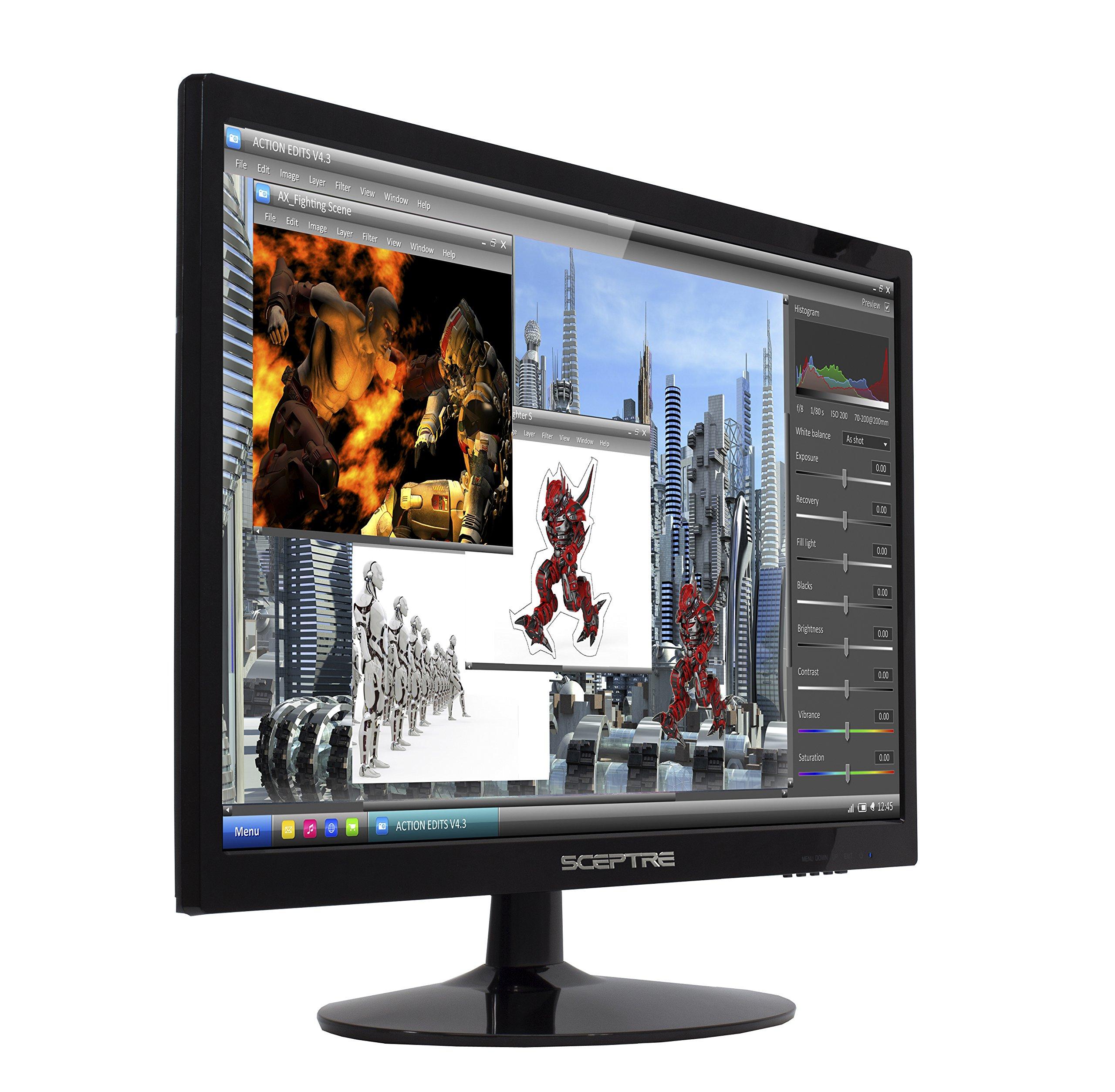 Sceptre 22 Inch Led Full Hd Monitor With Hdmi Dvi Vga