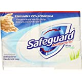 (PACK OF 20 BARS) Safeguard WHITE W/ALOE Antibacterial Bar Soap. ELIMINATES 99% OF BACTERIA! Washes Away Dirt & Odor! Healthy Skin for Hands, Face & Body! (20 Bars, 4.00oz Each Bar)
