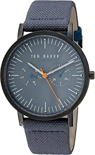 49708ecaf9d36 Ted Baker Men s  BRIT  Quartz Stainless Steel and Leather Casual Watch