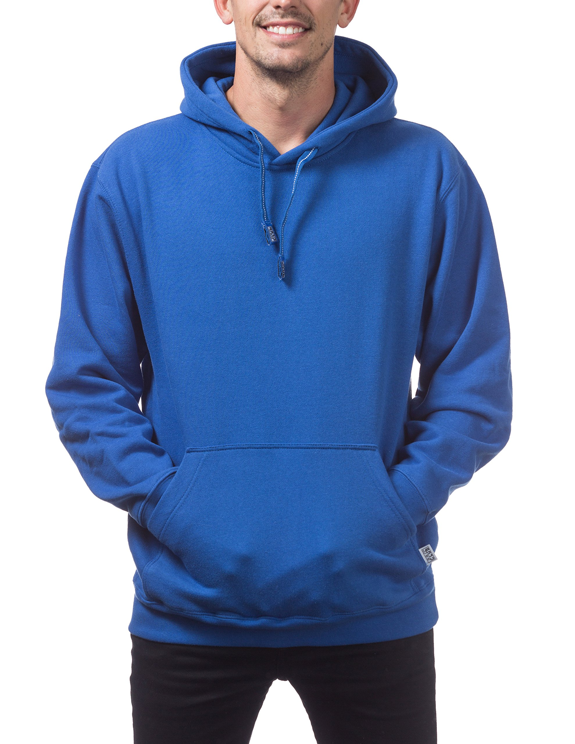 Pro Club Men's Heavyweight Pullover Hoodie (13oz), X-Large, Royal Blue