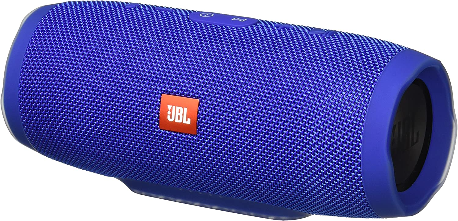 JBL Charge 3 Waterproof Portable Bluetooth Speaker (Blue) (JBLCHARGE3BLUEAM)