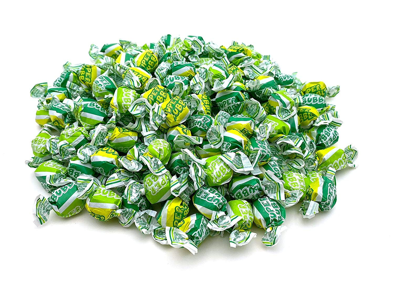 CrazyOutlet Super Bubble Gum, Soft and Easy To Chew, Apple Flavor - Bulk Pack 2 Lbs