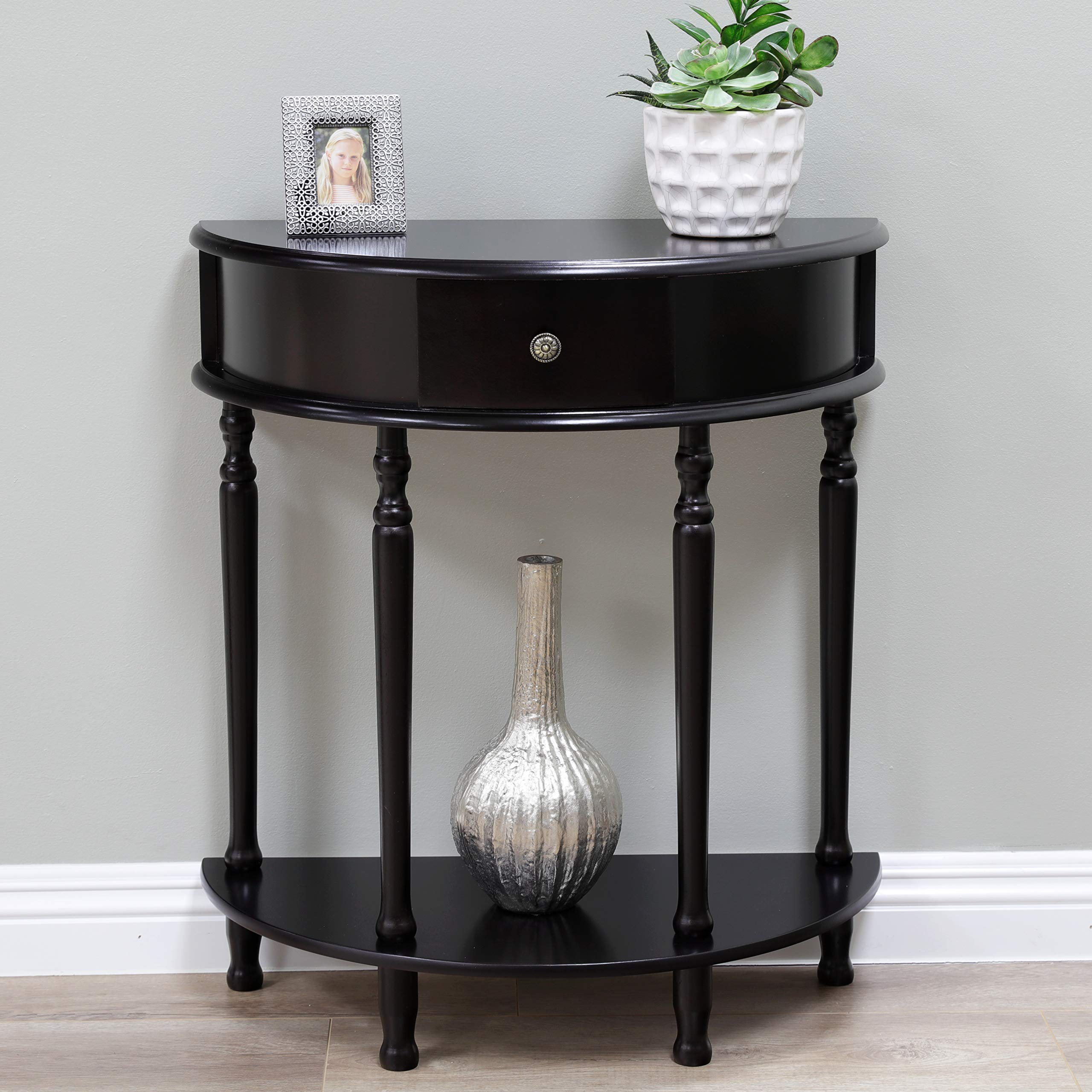 Frenchi Home Furnishing End Table/Side Table, Espresso Finish by Frenchi Home Furnishing