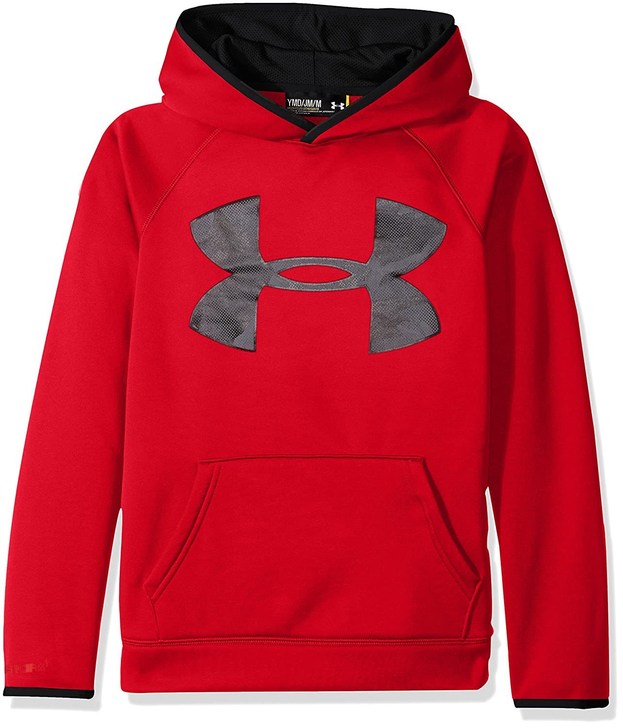 0207b56ca Under Armour Boys' Storm Armour Fleece Highlight Big Logo Hoodie Under  Armour Apparel 1281073