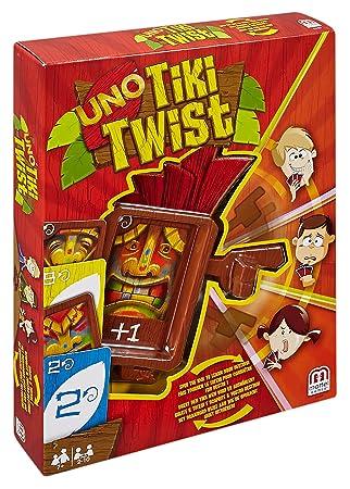 Juegos Mattel Uno Tiki Twist Juego De Mesa Cgh09 Amazon Es
