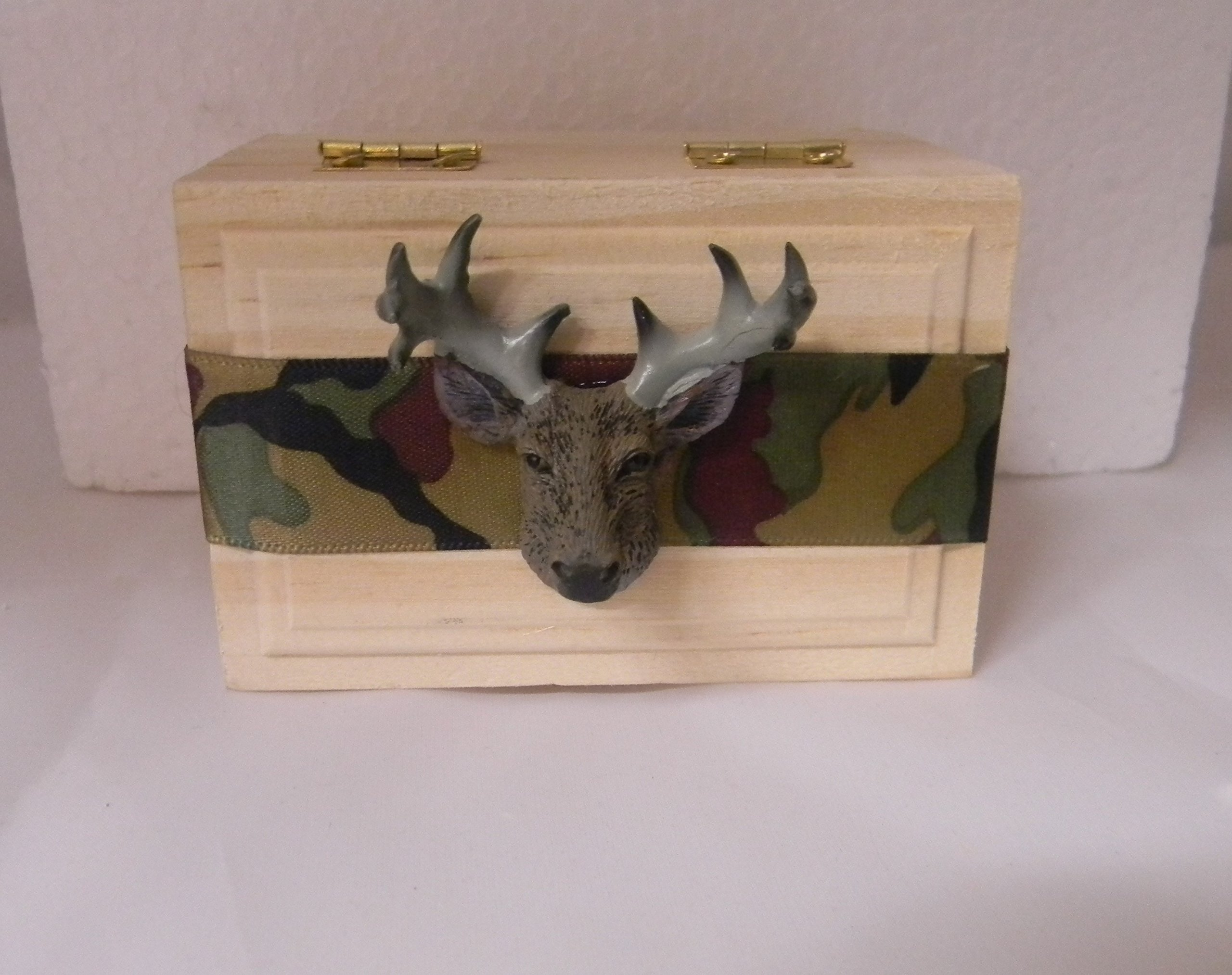 Wedding Party ceremony camo deer hunter buck ring bearer pillow Box by Custom Design Wedding Supplies by Suzanne