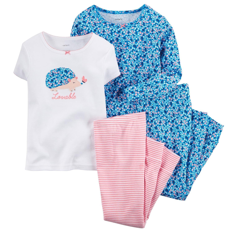 Carter's 4-teiliges MIX 'N MATCH Baby / Kleinkind Mädchen Baumwoll-Pyjama Set