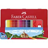 Faber-Castell Classic Color Pencil Tin Set 36 Count Multicolor
