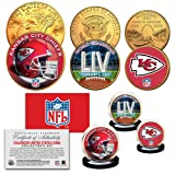 Super Bowl LII 54 NFL Champions KANSAS CITY CHIEFS 3-Coin Set Kansas City Themed