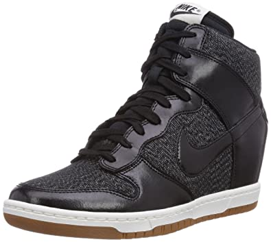 Nike Dunk Sky Hi Essential Women Shoes Wedge BlackSailMedium Mint 644877-