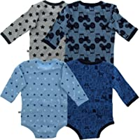 Pippi Baby - Mädchen Langarmshirt Body LS AO-Printed (4-Pack)