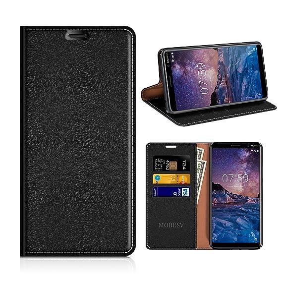 big sale 5e603 65524 Amazon.com: Nokia 7 Plus Wallet Case, Mobesv Nokia 7 Plus Leather ...