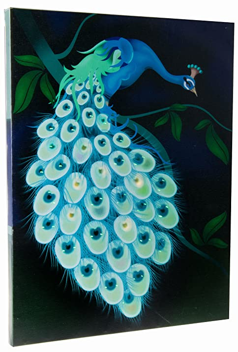 Peacock Light Up Canvas Wall Art By Clever Creations | Beautiful Wall Art  With LEDs |
