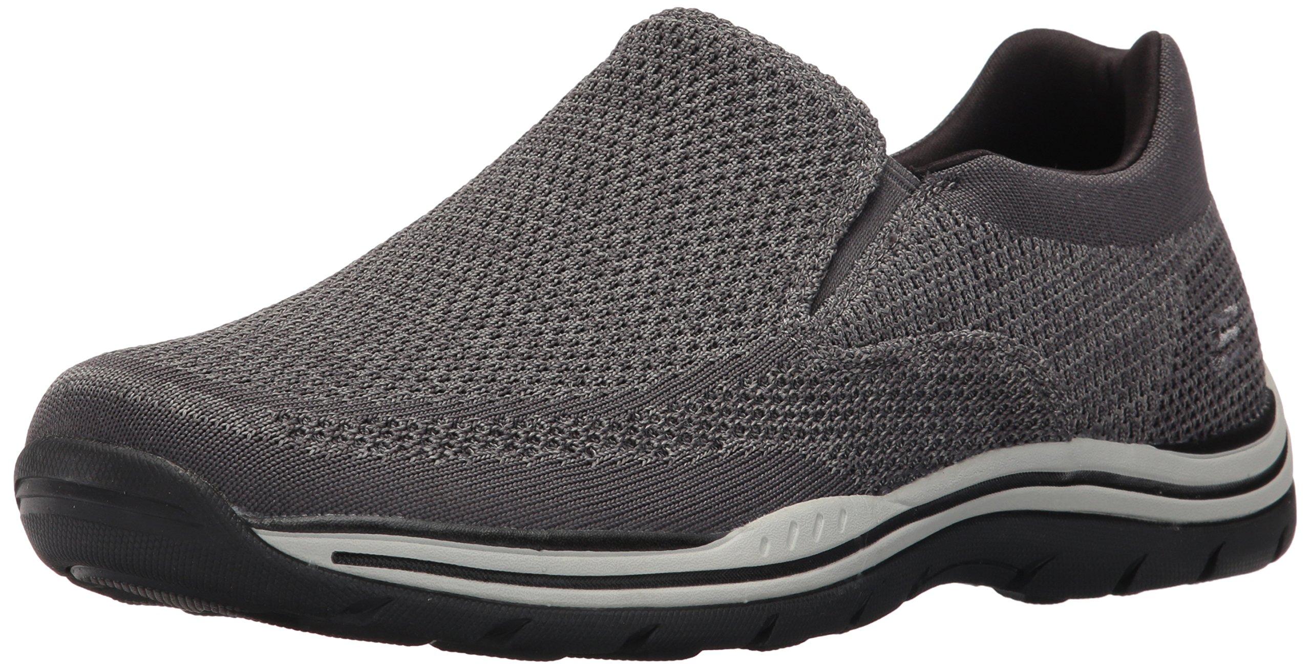 Skechers USA Men's Expected Gomel Slip-on Loafer, Gray, 10.5 M US