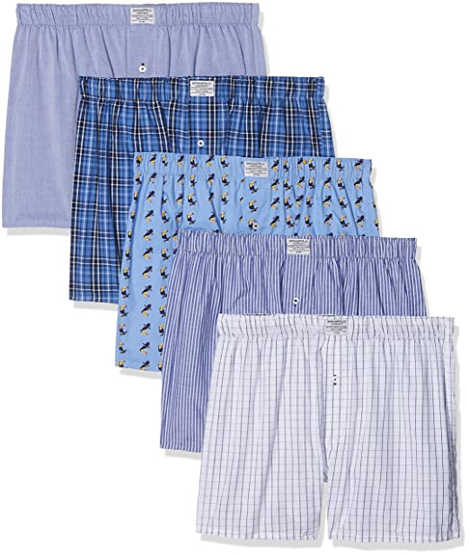 Springfield 1163450 Pack 5 boxers tela Tucanes, Hombre, Azul (Gama azules),