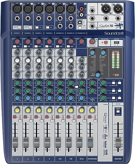 Mesa de mezcla analogica 10 canales con efectos: Amazon.es ...
