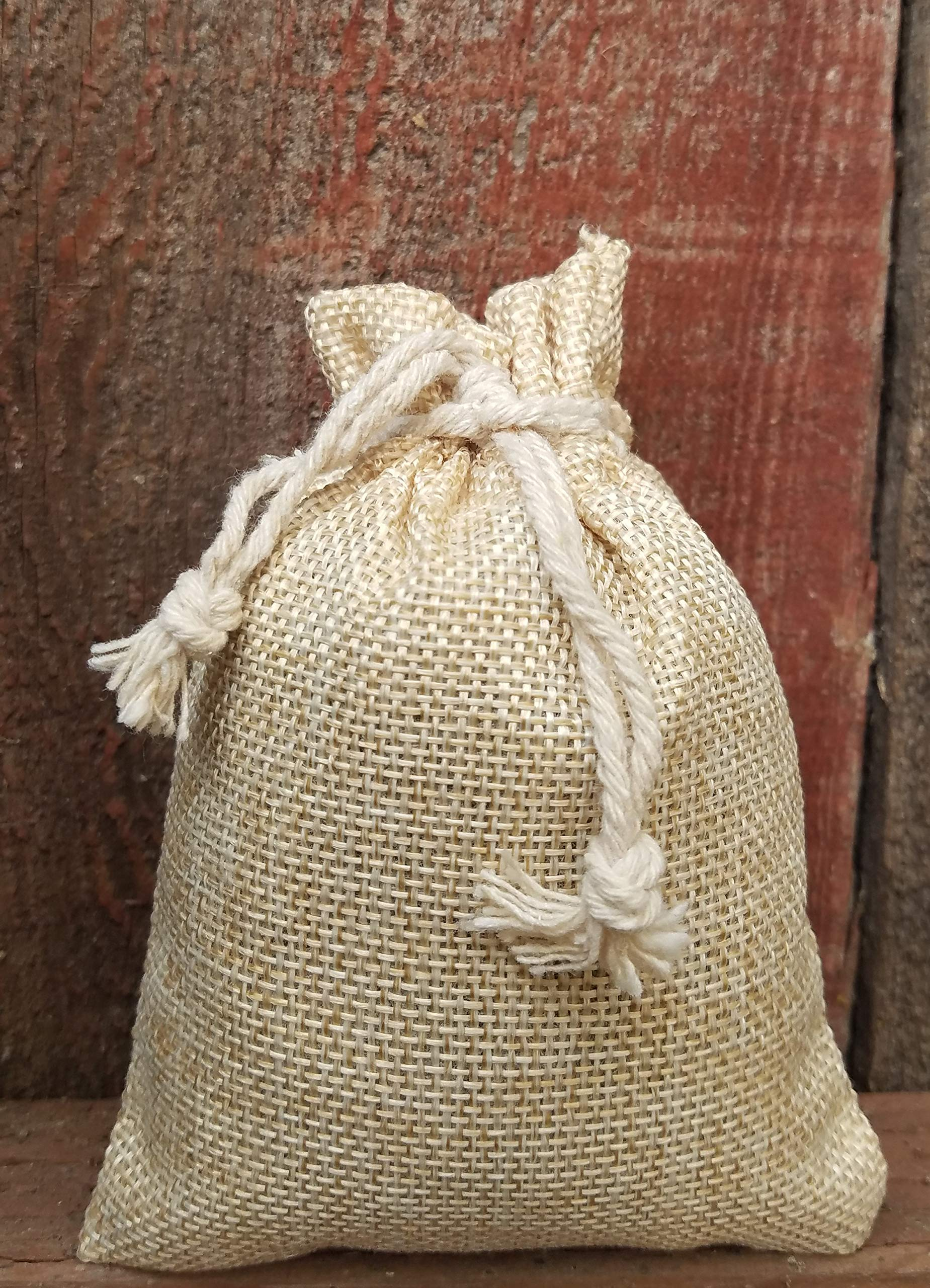 Lavender Scent Sachets, 32 Grams of Fresh, Naturally Dried, Fragrant Lavendula in Burlap Bags (3.7''x5.3''), (Set of 3 Colors: tan, Grey & Ethnic Print) Harvested in Northern California by Generic (Image #5)