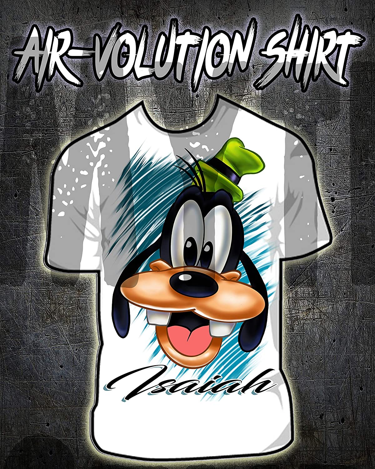 Personalized Airbrush Goofy Kids and Adult Tee Shirt
