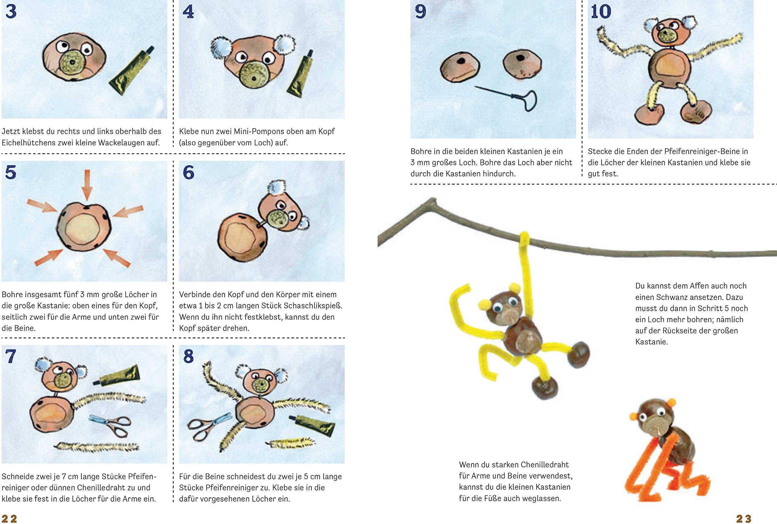 Lustige Kastanienfiguren für kleine Künstler: Basteln mit Natur- und ...
