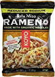 KOYO Reduced Sodium Tofu Miso Ramen Made with Organic Noodles, 2.1 Ounce (Pack of 12)