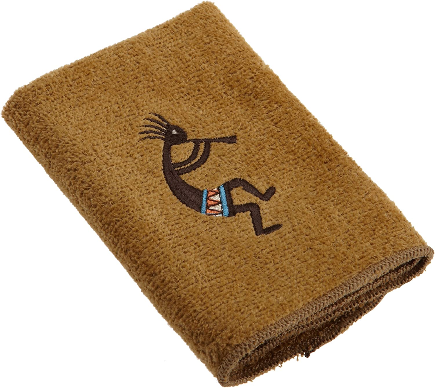 Avanti Linens Kokopelli Wash Cloth, Nutmeg