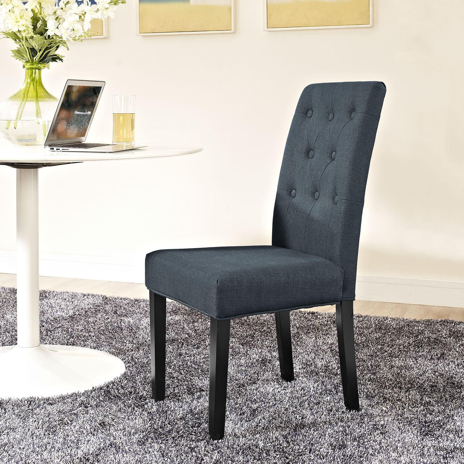 Modway Confer Dining Fabric Side Chair, Gray by Modway (Image #4)