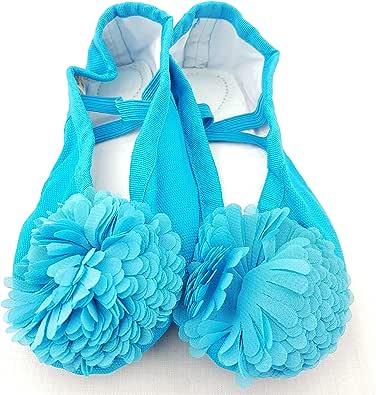 ballet shoes for girls blue color