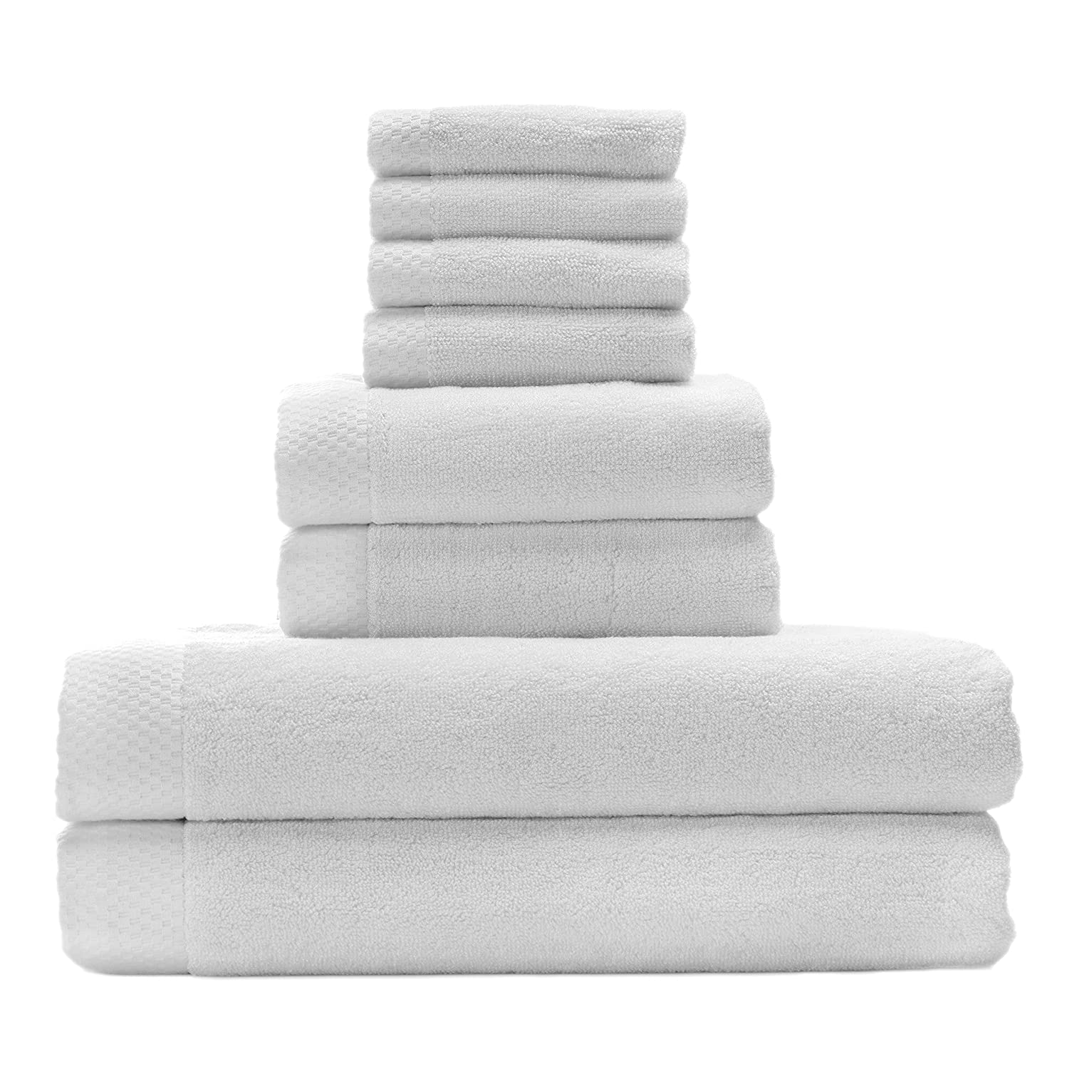 Silky Soft Organic Bamboo Bath Towel Set Bundles By BedVoyage the Eco Resort Collection of Spa Luxuriousness and Opulence In Your Own Bathroom (White) 21980721