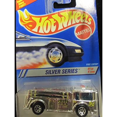 Hot Wheels Fire Eater 1995 Silver Series #1 Collector #322 Chrome W/7 Spoke Wheels 1:64 Scale: Toys & Games