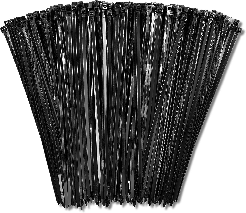 "1000 Pcs 18/"" 75LB USA INDUSTRIAL BLACK WIRE CABLE ZIP UV NYLON TIE WRAPS"