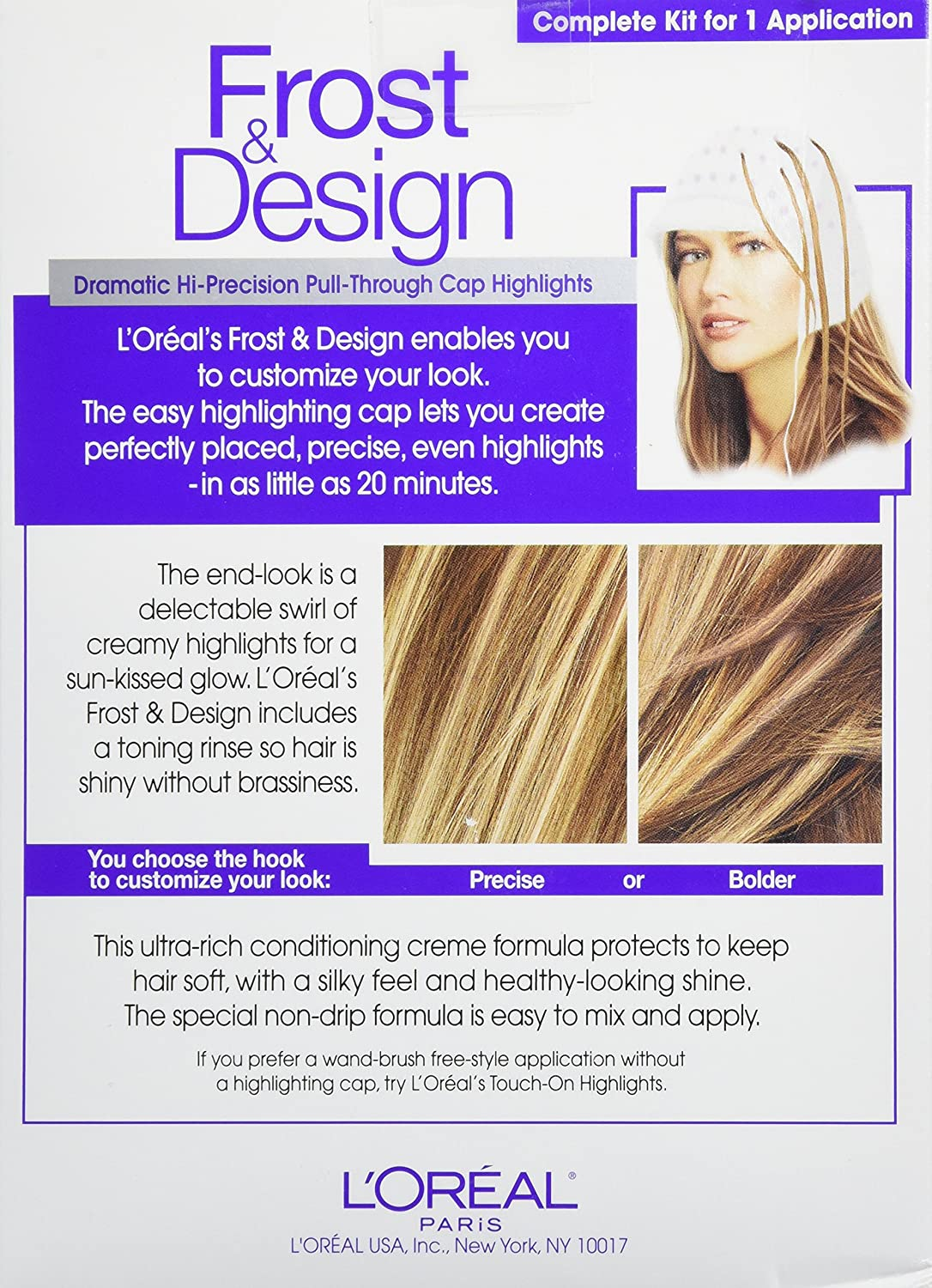 L Oreal Paris Frost And Design Cap Hair Highlights For Long Hair H65 Caramel Amazon Ca Beauty