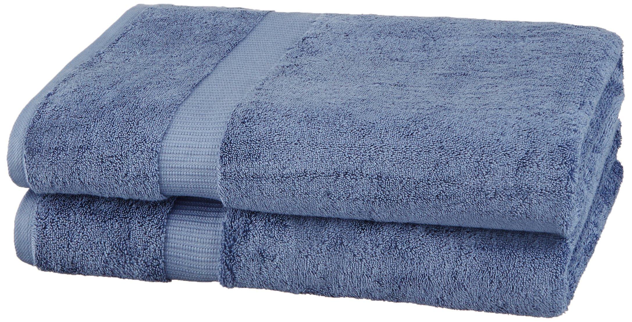 Pinzon Organic Cotton Bath Sheet (2 Pack), Indigo Blue