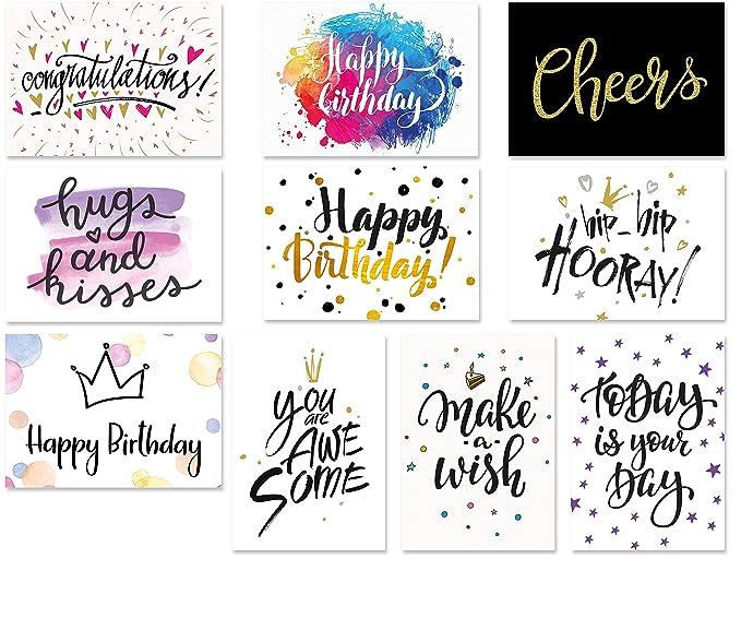 Juego De 20 Postales Con Tipografía 10 Diseños Con 2