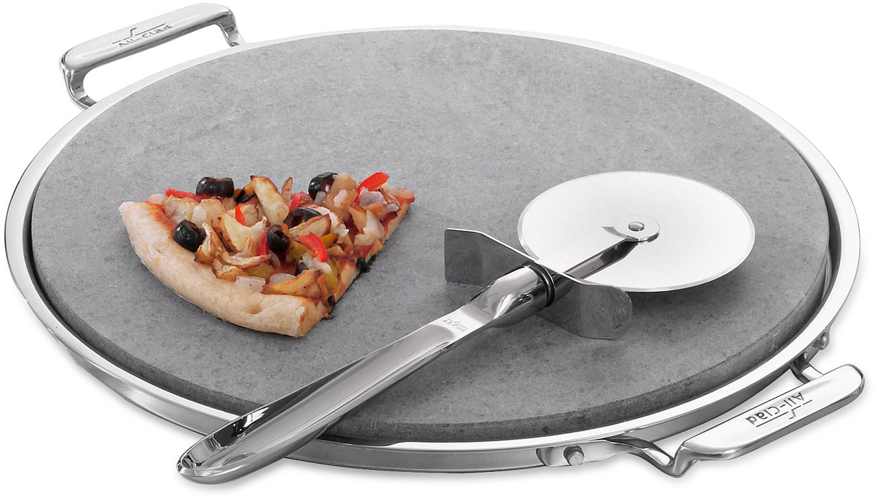 Bed bath beyond pizza stone - All Clad 3 Piece Pizza Stone Set Cookware Amp Cookware Sets Kitchen